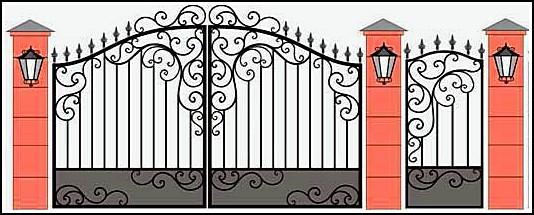 Трафареты на воротах фото