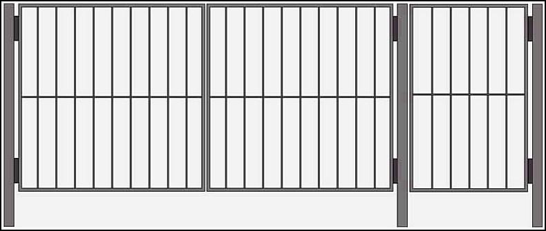 Ворота сварные ВКС №9.<br /><br /><br /> Калитка и ворота изготовлены из стального уголка 25х25х4 мм или по требованию клиента - 40х40х4 мм.<br /><br /><br /> Внутреннее наполнение выполняется круглым прутком диаметром 10 мм или квадратным, с размерами 10 на 10 мм.<br /><br /><br /> Столбы ворот возможно изготовить из круглой трубы диаметром 57 мм или квадратной 50 на 50 мм или 60х60 мм.<br /><br /><br />