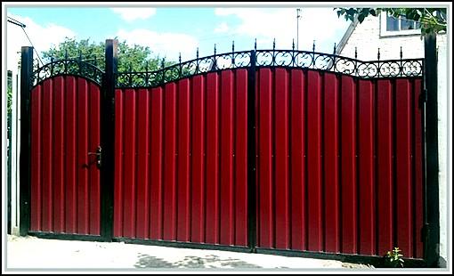 Арочные ворота из профлиста