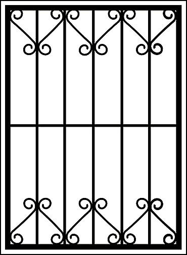 Решетка на окно «Ажуры малые»