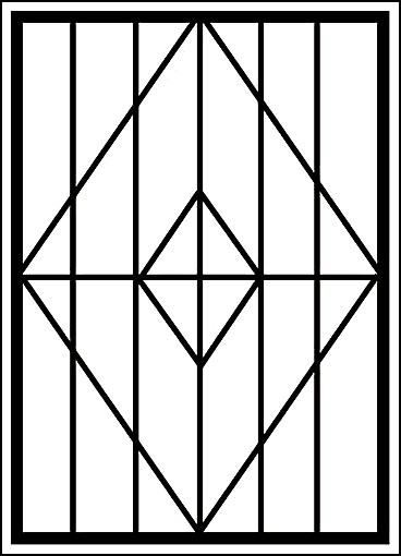 Решетка на окно «Ромб в ромбе»