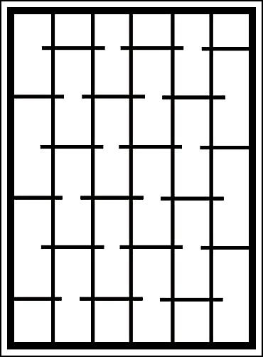 Сварная оконная решетка «Штрихи»
