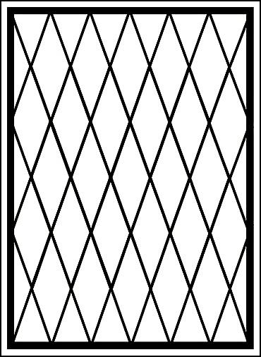 Металлическая решетка на окно «Сетчатые ромбы»