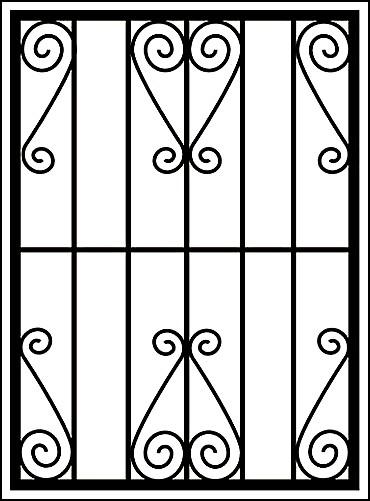 Металлическая оконная решетка «Ажуры минимум»