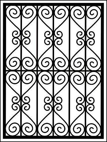 Сварная решетка на окно «Ажуры максимум»