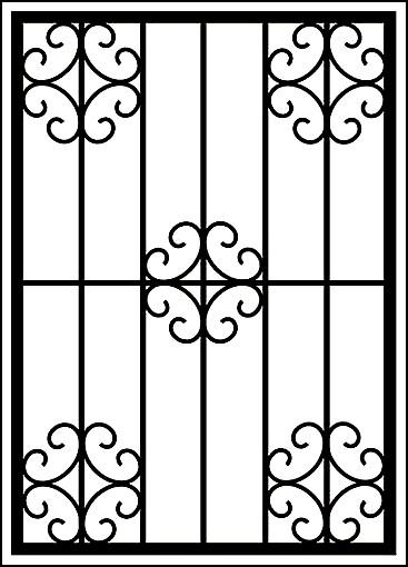 Металлическая решетка на окно «Цветы»