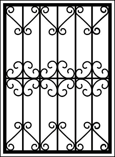 Решетка из металла на окно «Цветы и ажуры»
