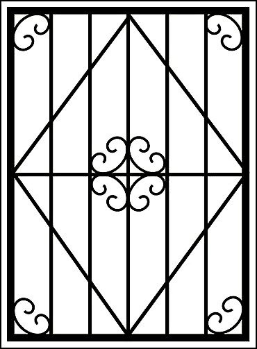 Сварная решетка из металла «Цветок за ромбом»