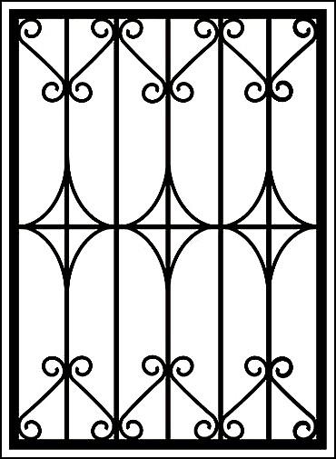 Сварные решетки на окна «Ромбы и ажуры»