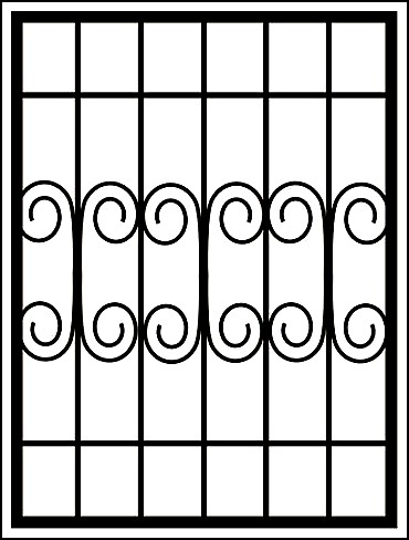 Сварная решетка на окно «Волна»