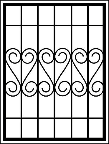 Решетки на окна «Волны боковые»