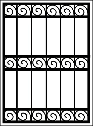 Решетка на окно «Волны в линию»