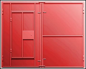 Металлические ворота для гаража размеры купить кирпич для гаража белый