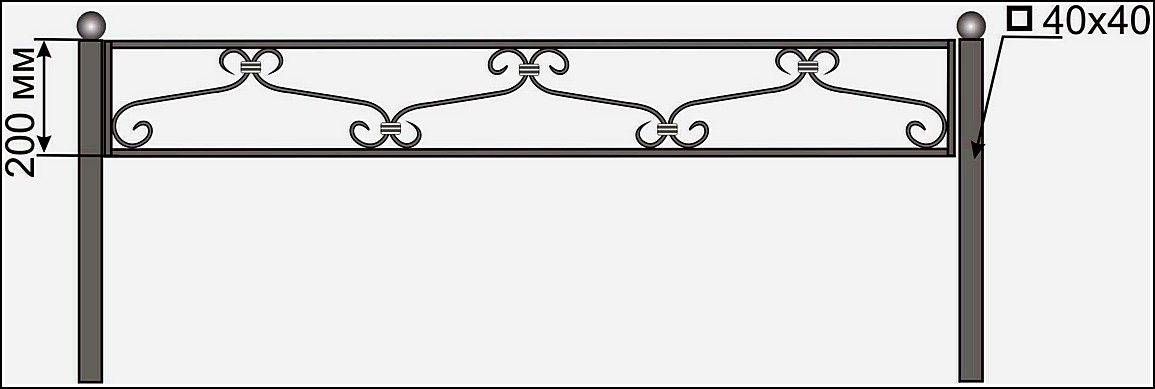Ограда кованая ОК №1