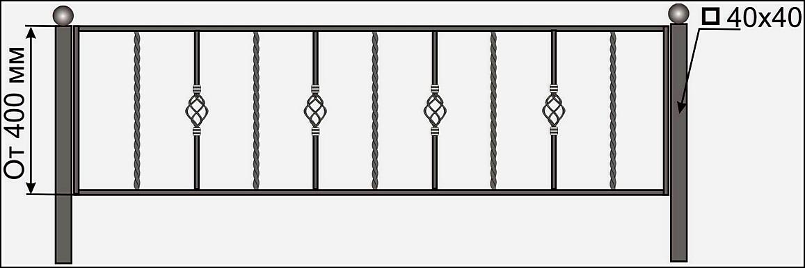 Ограда кованая ОК №3
