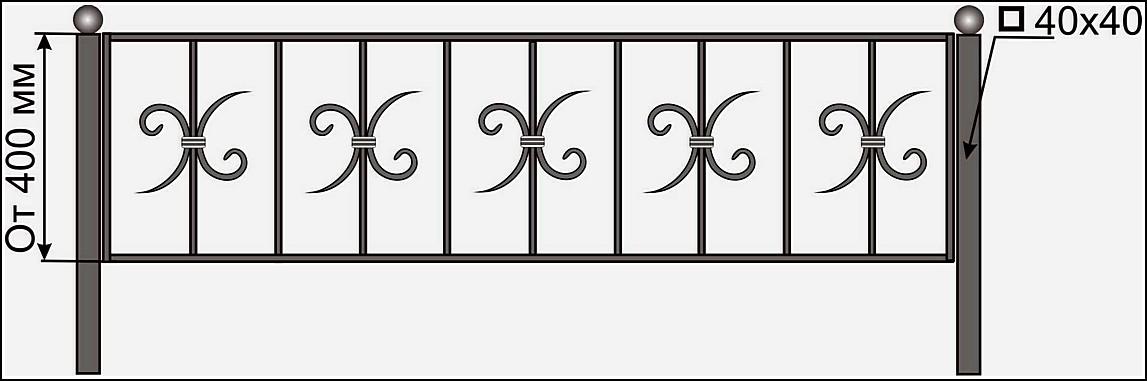 Ограда кованая ОК №5