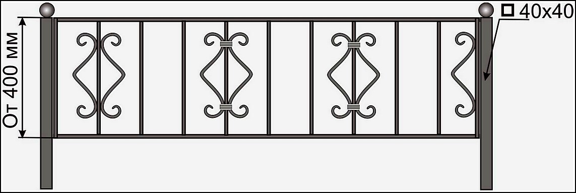 Ограда кованая ОК №7