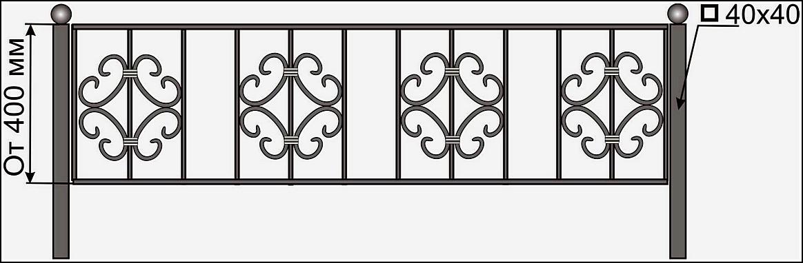 Ограда кованая ОК №13