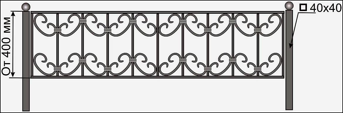 Ограда кованая ОК №15