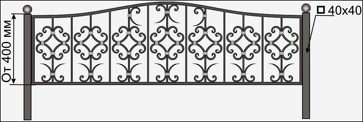 Ограда кованая ОК №17