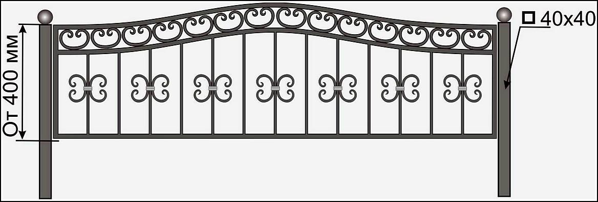 Кованая ограда ОК №18