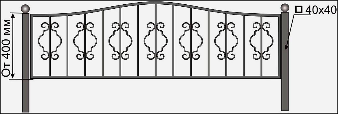 Ограда кованая ОК №19