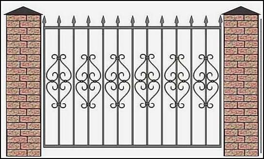 Забор кованый ЗКВ №1