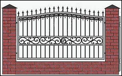 Забор кованый ЗКВ №3