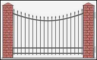 Забор кованый ЗКВ №5
