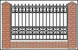 Забор кованый ЗКВ №6