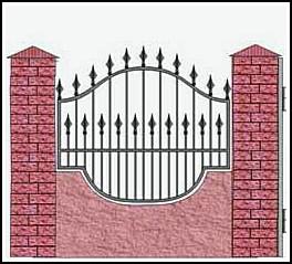 Забор кованый ЗКВ №7