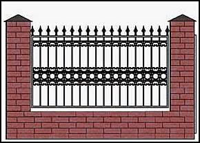 Забор кованый ЗКВ №9