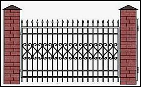 Забор кованый ЗКВ №10