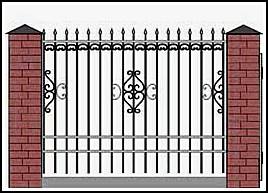 Забор кованый ЗКВ №12