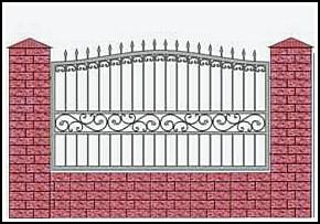 Забор кованый ЗКВ №18