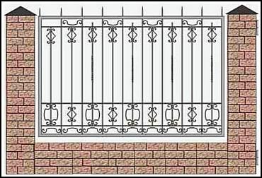 Забор кованый ЗКВ №20