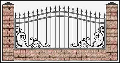 Забор кованый ЗКВ №21