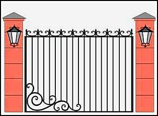 Забор кованый ЗКВ №22
