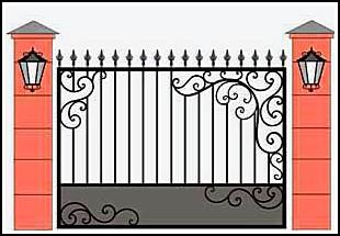 Забор кованый ЗКВ №23