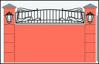 Забор кованый ЗКВ №24