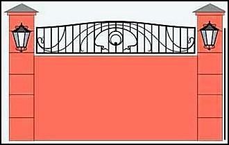 Забор кованый ЗКВ №25