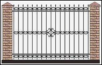 Забор кованый ЗКВ №26