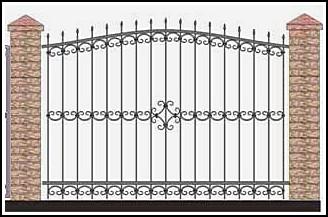 Забор кованый ЗКВ №27