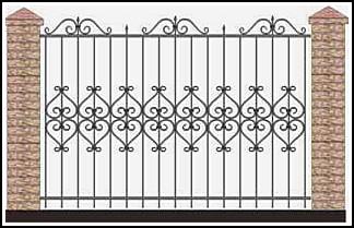 Забор кованый ЗКВ №28