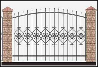 Забор кованый ЗКВ №29