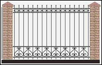 Забор кованый ЗКВ №30