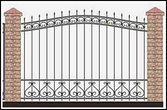 Забор кованый ЗКВ №31