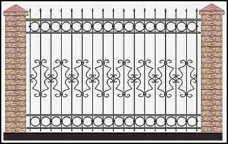 Забор кованый ЗКВ №32