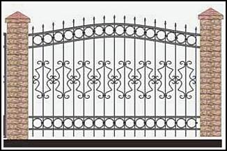 Забор кованый ЗКВ №33