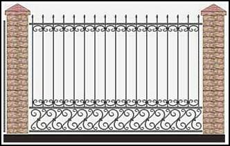 Забор кованый ЗКВ №34